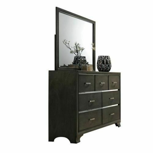 ACME Carine Mirror - 26264 - Gray