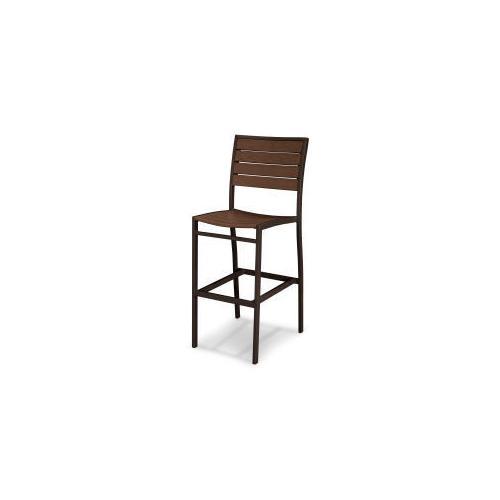 Polywood Furnishings - Eurou2122 Bar Side Chair in Textured Bronze / Mahogany