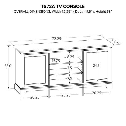 TS72A Custom TV Console