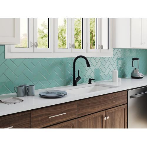 """Indigo Blue 33"""" X 18-3/4"""" X 9-5/8"""" Smart Divide Top-mount/undermount Large/medium Kitchen Sink"""