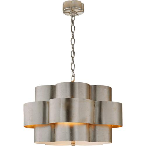 AERIN Arabelle 5 Light 28 inch Burnished Silver Leaf Hanging Shade Ceiling Light
