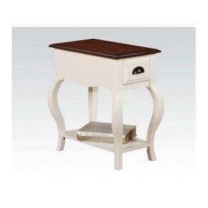 Antique Wh/dark Oak Side Table