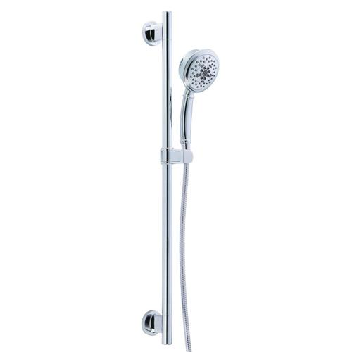 "Chrome Versa 30"" Slide Bar Assembly with Surge® 5-Function Handshower, 2.5gpm"