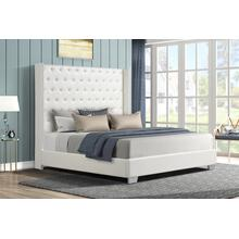 See Details - Alanis Queen Bed, White PU