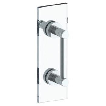"Sutton 12"" Shower Door Pull W/ Knob/ Glass Mount Towel Bar With Hook"