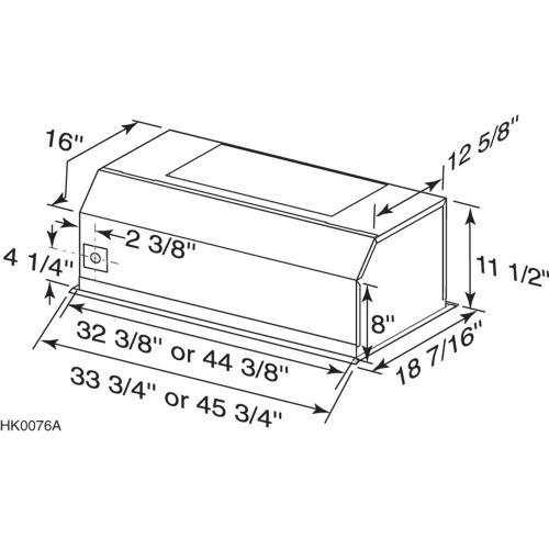 Broan® 33-Inch Pro-Style Built-In Range Hood Insert