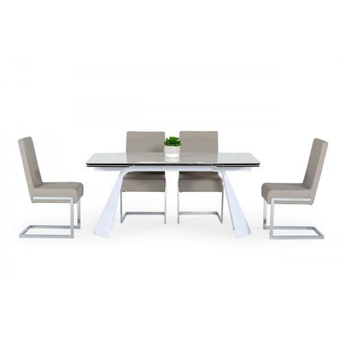 VIG Furniture - Modrest Encanto - Modern White Ceramic Dining Table
