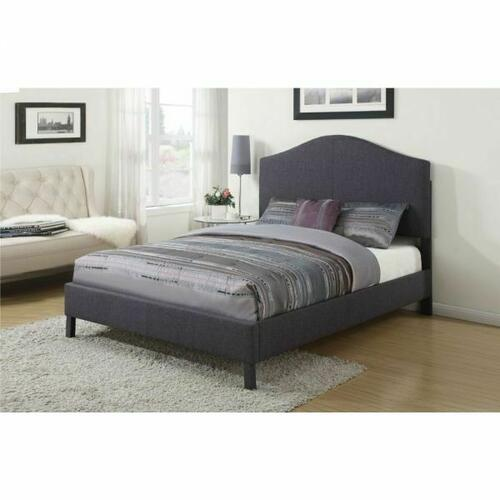 ACME Clyde Queen Bed - 25010Q - Gray Linen