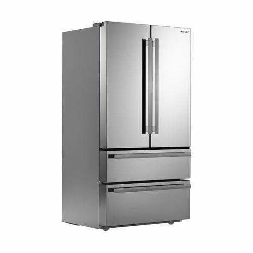 Sharp - Sharp French 4-Door Counter-Depth Refrigerator