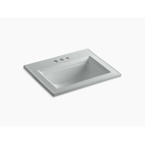 "Ice Grey Drop-in Bathroom Sink With 4"" Centerset Faucet Holes"