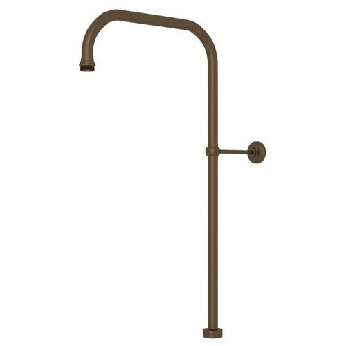 """English Bronze Perrin & Rowe 63"""" X 15"""" Rigid Riser Shower Outlet"""