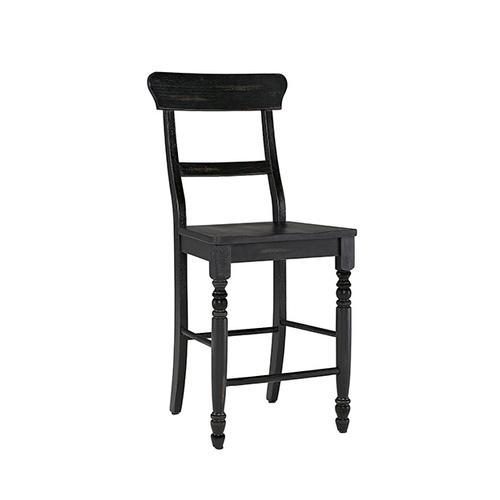 Counter Chair- 2/CTN- Antique Black - Antique White Finish