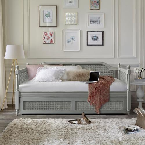 Melanie Wood Twin Daybed With Trundle, French Gray