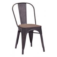 Elio Dining Chair Rustic Black & Brown