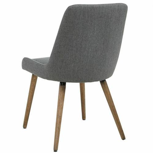 Worldwide Homefurnishings - Mia Side Chair, set of 2 in Dark Grey/Grey Legs