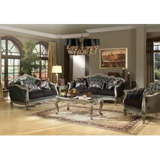 ACME Chantelle Sofa w/3 Pillows - 51540 - Silver Gray Silk-Like Fabric & Antique Platinum