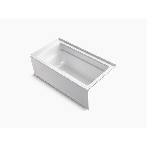 "White 60"" X 32"" Alcove Bath With Integral Apron, Integral Flange and Right-hand Drain"