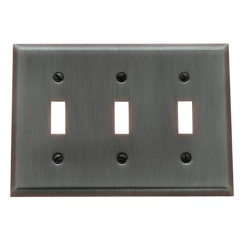 Venetian Bronze Beveled Edge Triple Toggle