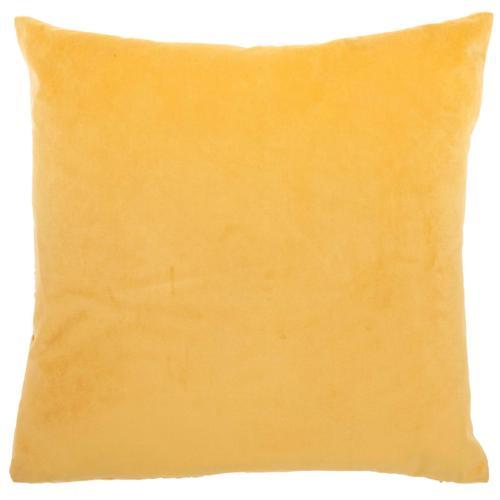 "Luminescence Et139 Yellow 20"" X 20"" Throw Pillow"