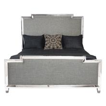 King Criteria Metal Upholstered Panel Bed