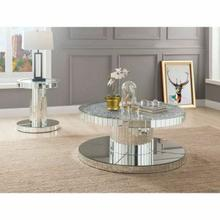 ACME Ornat Coffee Table - 80300 - Mirrored & Faux Stones