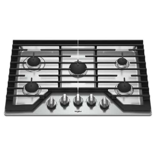 Whirlpool - 30-inch Gas Cooktop with Griddle