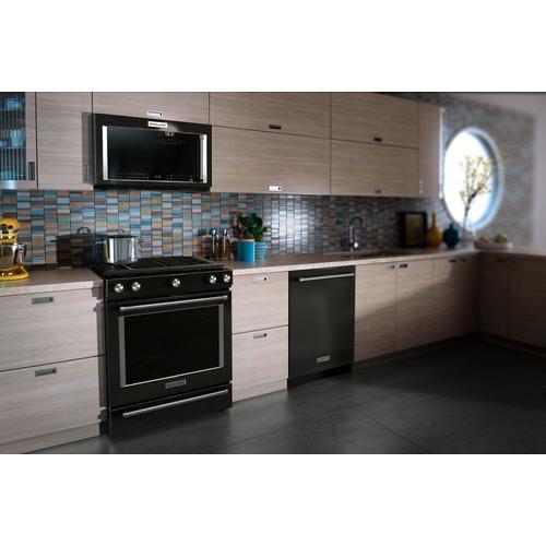 KitchenAid - 1000-Watt Convection Microwave Hood Combination Black