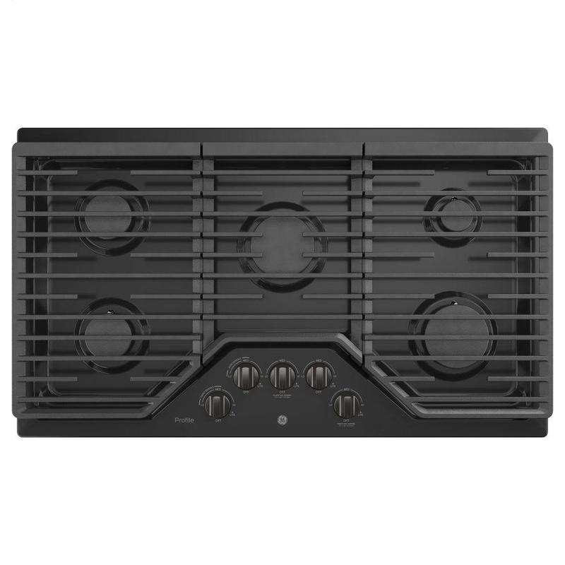 """GE Profile™ 36"""" Built-In Gas Cooktop with Optional Extra-Large Cast Iron Griddle"""