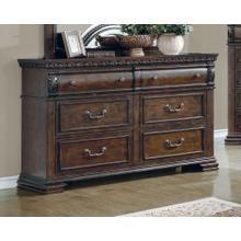 See Details - Satterfield Traditional Warm Bourbon Six-drawer Dresser