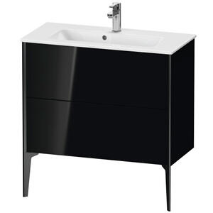 Duravit - Vanity Unit Floorstanding Compact, Black High Gloss (lacquer)