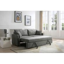 See Details - Rebecca Sofa with Pull-Out Bed, Gray