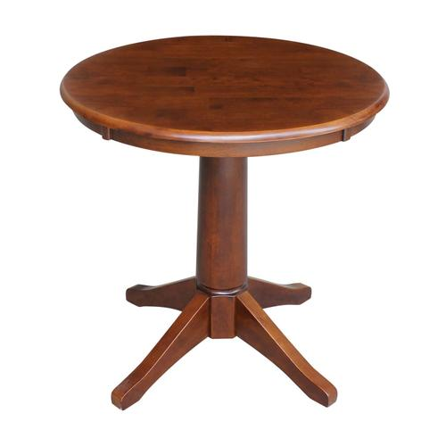 """Product Image - 30"""" Pedestal Table in Espresso"""