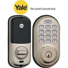 Nickel Keyless Push Button Deadbolt