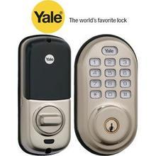 View Product - Nickel Keyless Push Button Deadbolt