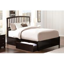 Richmond Queen Flat Panel Foot Board with 2 Urban Bed Drawers Espresso