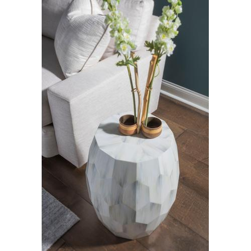 Bello Faceted Drum Table