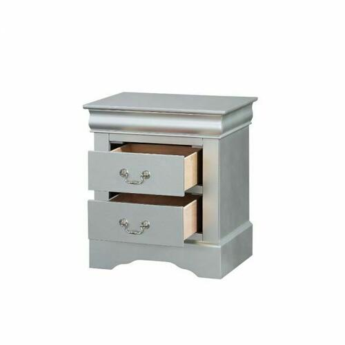ACME Louis Philippe Nightstand - 26733 - Platinum