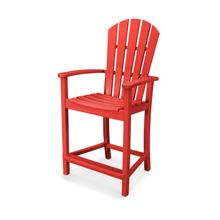 Sunset Red Palm Coast Counter Chair