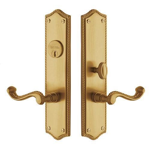 Vintage Brass Bristol Escutcheon Entrance Set
