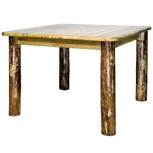 Glacier Country Collection 4 Post Square Dining Table