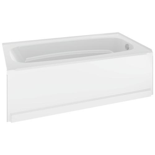 """High Gloss White 60"""" x 32"""" Bathtub - Right Drain"""
