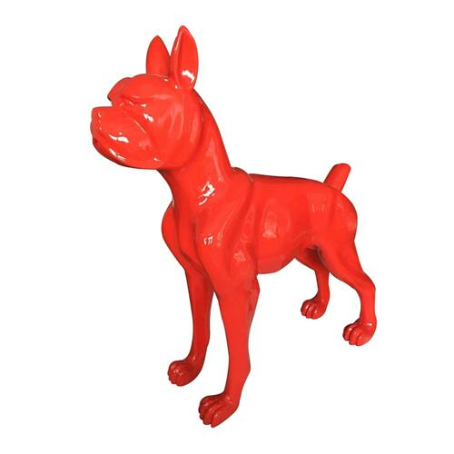 Gallery - Modrest Large Red Dog Sculpture