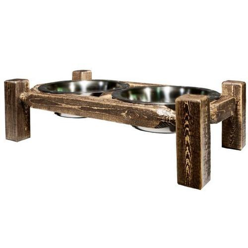 Product Image - Homestead Collection Pet Feeder, Stain and Lacquer Finish