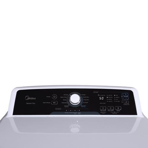 Midea - 6.7 Cu. Ft. Front Load Gas Dryer