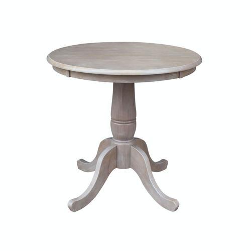 John Thomas Furniture - 30'' Pedestal Table in Taupe Gray