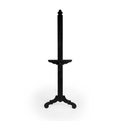 Butler Specialty Company - Display cherished photography and artwork on this lovely easel. Crafted from poplar hardwood solids, it features a Black finish with a height adjustable base along the front support.