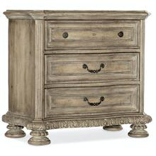 Bedroom Castella Three Drawer Nightstand
