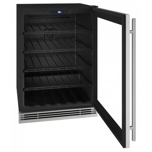 "Hwc024 24"" Wine Refrigerator With Stainless Frame Finish (115v/60 Hz Volts /60 Hz Hz)"