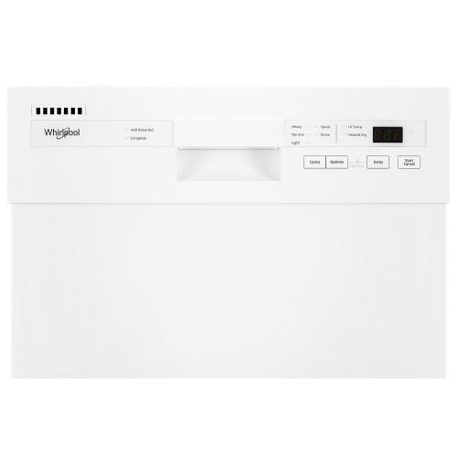 Whirlpool - Small-Space Compact Dishwasher with Stainless Steel Tub
