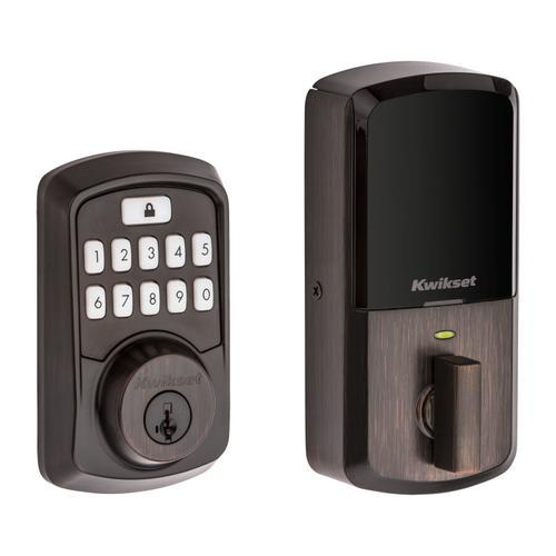 Kwikset - Aura Bluetooth Enabled Smart Lock - Venetian Bronze